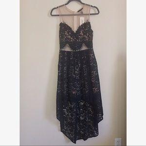Lace Hi-Low Dress